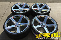 22 Chrome Iroc Wheels & Tires 5x120 22x8.5 +38 Camaro 1994 - 2015 High Offset