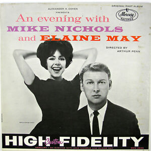 MIKE-NICHOLS-AND-ELAINE-An-Evening-With-LP-1961-SPOKEN-WORD-COMEDY-VG-NM