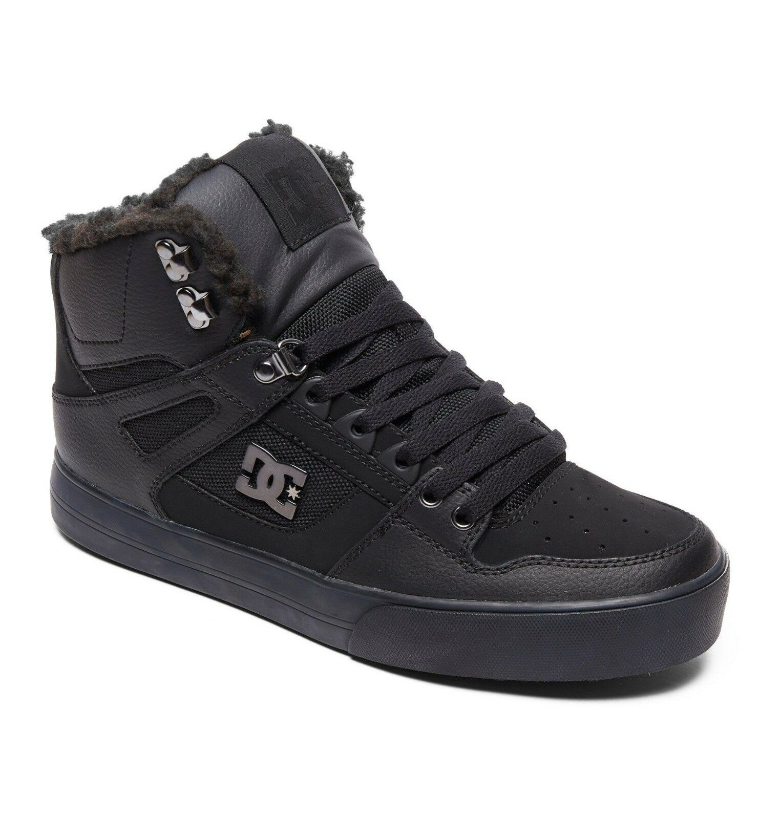 DC chaussures Homme Hi Top bottes. Pure hivernale en cuir doublé Haut chaussures noires 8 W 47