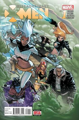 2015 Jeff Lemire Regular Cover Marvel Comics EXTRAORDINARY X-MEN #1
