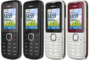 Nokia-C1-01-Desbloqueado-Telefono-Camara-Barra-de-telefono-movil-basico-Kit-Completo