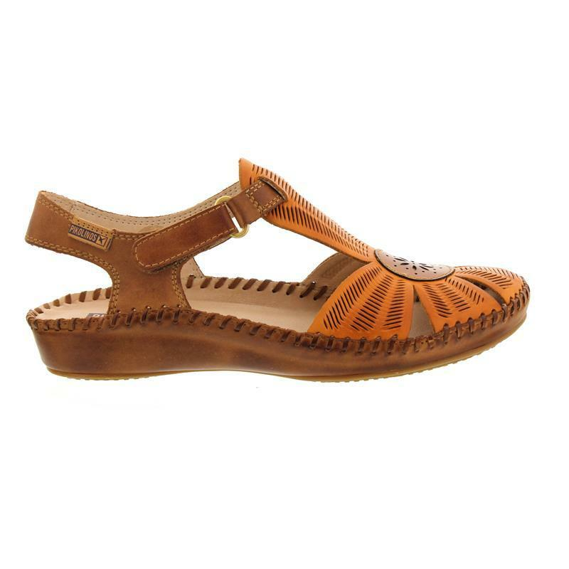 Pikolinos P. VALLARTA, Sandal, Lava Brandy, Smooth Leather, Velcro 655-0