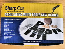 40 piece multi tool blade cutting set with numerous blades and accessories