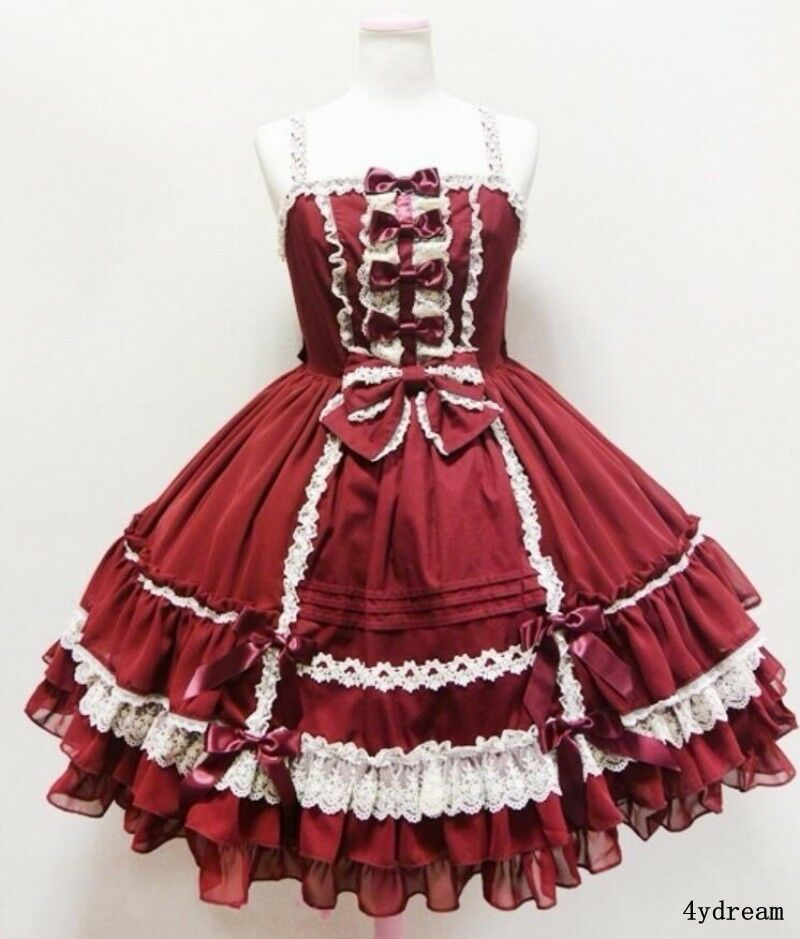 Lolita Lady's Cosplay Sleeveless Court Party Bowtie Cotton Blend Princress Dress