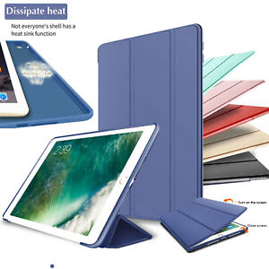 Coque Housse Etui Cuir Silicone Smart Cover PouriPad 9.7 10.2 Air 4 3 2 Mini