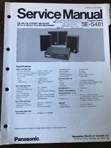 Details about Original Panasonic Technics Model SE-5481 Compact Stereo  System Service Manual