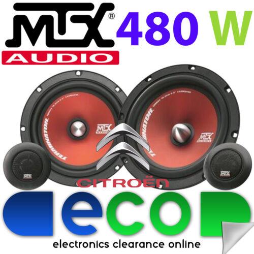 """Citroen Berlingo 96-08 MTX 6.5/"""" 480 Watts Component Kit Front Door Car Speakers"""