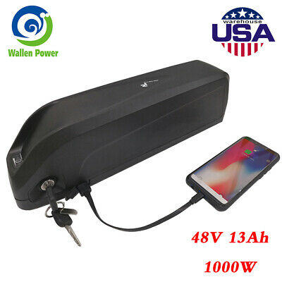 48V 1000W Ebike Battery Hailong 1 Lithium Li-ion for Electric Bicycle Down Tube