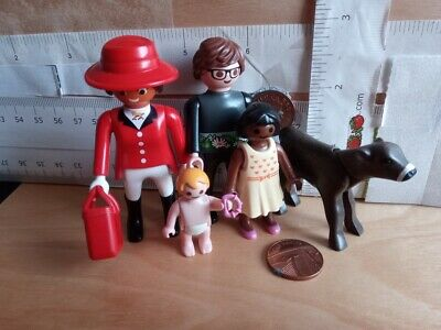 Family Figures Woman Black Man child baby hats Playmobil Doll House Spares
