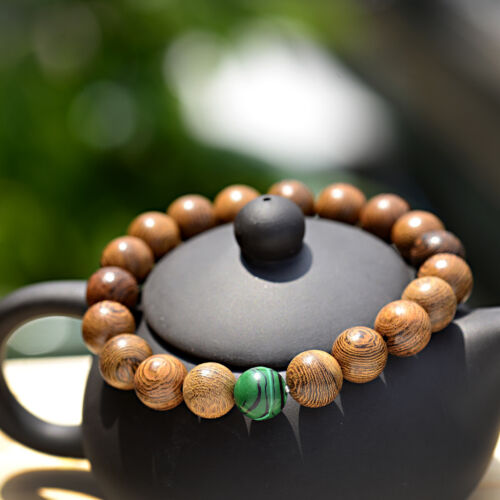 Simple Sandalwood 10mm Buddha Buddha Bracelets Natural Stone Handmade Classical