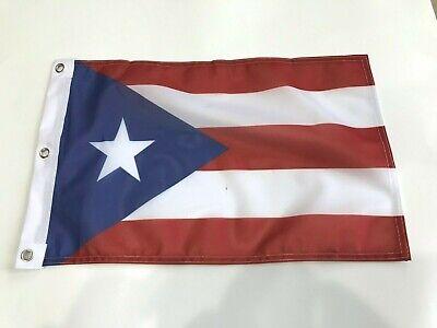 """Super Polyester 12x18 12/""""x18/"""" Puerto Rico ROYAL BLUE Sleeve Flag Garden"""