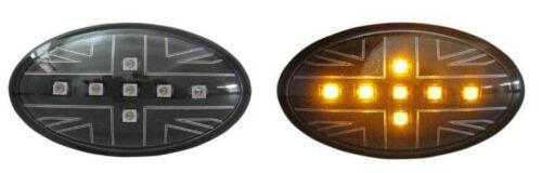SEITENBLINKER UNION JACK SCHWARZE LED passt für MINI ONE COOPER R50 R52 R53