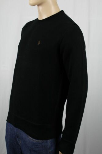 Polo Ralph Lauren Black Crewneck Sweater Brown Pony NWT