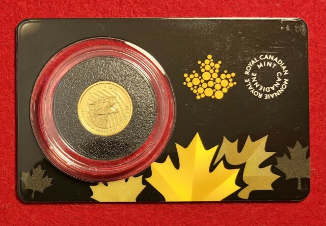 2016 Canada 1/10 oz Gold Growling Cougar .99999 In Assay $20 Coin RCM