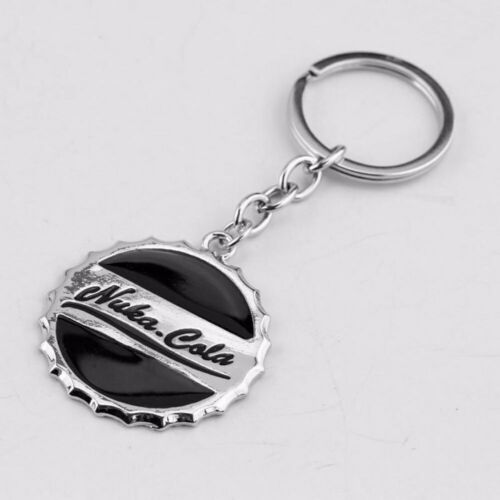- Nuka Cola Schlüsselanhänger Metall schwarz Fallout 4 Kronkorken