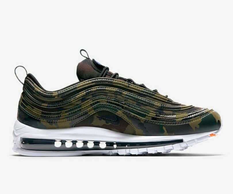 Nike Air Max 97 Camo Premium QS Camo 97 France Country Pack Größe 8 UK Genuine Authentic 6d3cdb