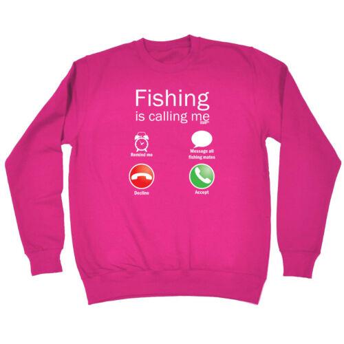 Fishing Is Calling Me Fishing Childrens Sweatshirt Funny Jumper
