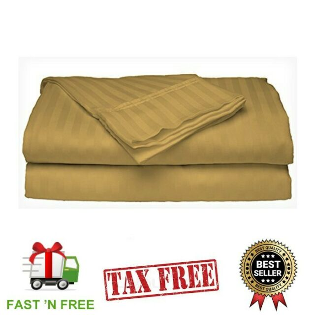 BED SHEET SET Deep Pocket Fitted Flat 4PCS 100 % COTTON KING SIZE Sheets NEW