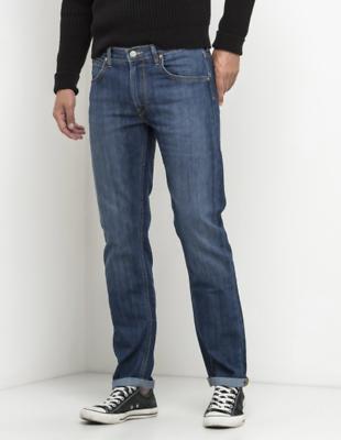 Hommes LEE DAREN Deep Grey Slim Coupe Droite Stretch Jeans RRP £ 85 S L159