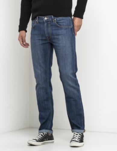 Mens Lee Daren regular waist slim leg stretch jeans /'Blue drop/' SECONDS L98