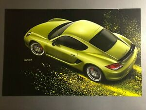 Porsche Cayman R Coupe Showroom Advertising Poster Rare Awesome L K Ebay