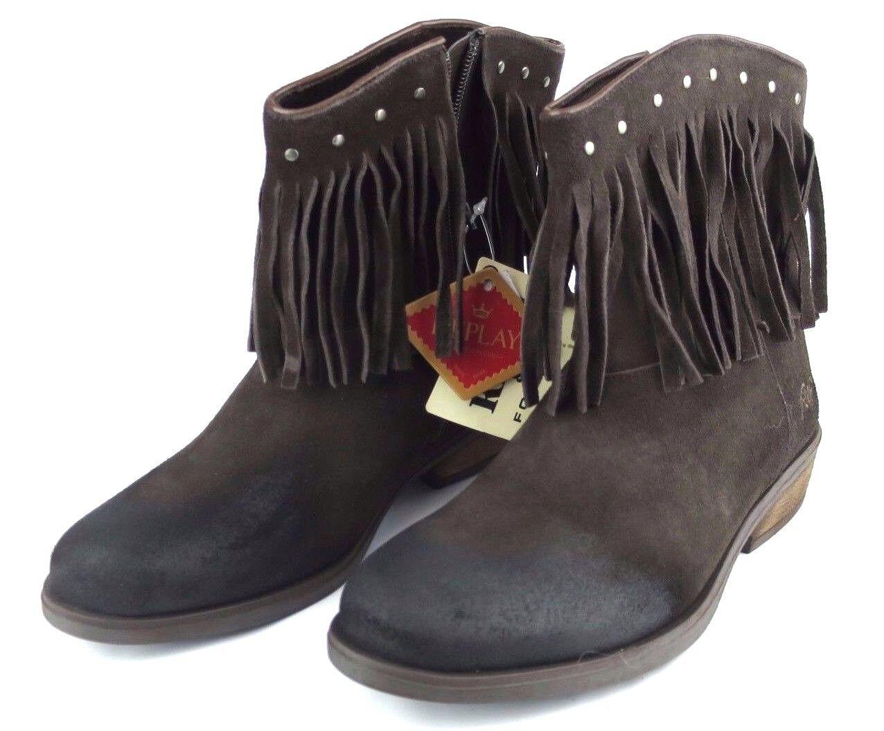 Replay Lancaster señora cuero marrón chica zapatos botas Woman botas marrón cuero NUEVO 6b06f7
