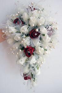 Bouquet Sposa Con Perle.Luxury Bouquet Da Sposa Avorio Roses Con Crystal Spray Perle