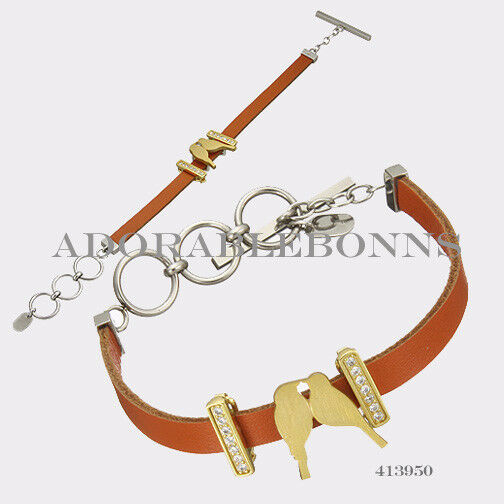 Authentic Lori Bonn The Match Made In Heaven Charm Leather Bracelet 8   413950