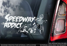 Speedway Addict! - Car Window Sticker - Motorbike Motorcycle Decal Racing - V01