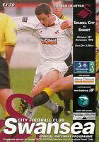 Swansea City v Barnet 28 Dec 1998 FOOTBALL PROGRAMME
