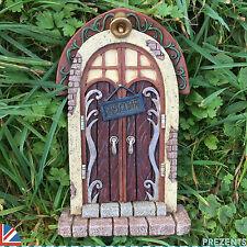 LARGE Garden Fairy Door Elf Pixie Garden Ornament Outdoor Home Christmas 39151