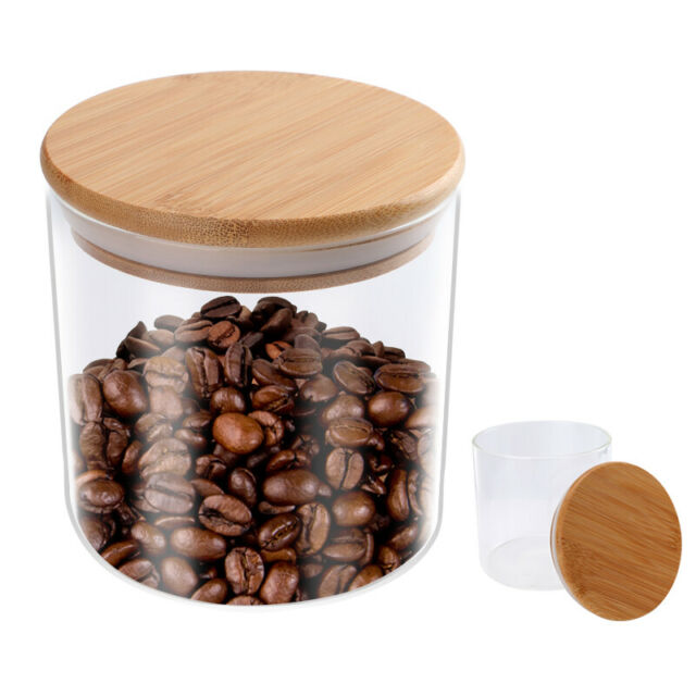 Bamboo Storage Jar Canister With Lid Food Container Coffee Bean
