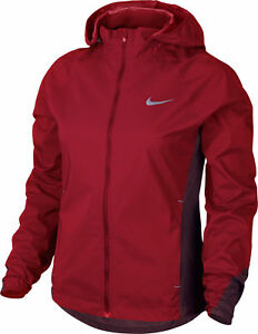 21d758a05954 Nike Shield Full-Zip Women`s Running Jacket Zoned Hooded Red 820565 ...
