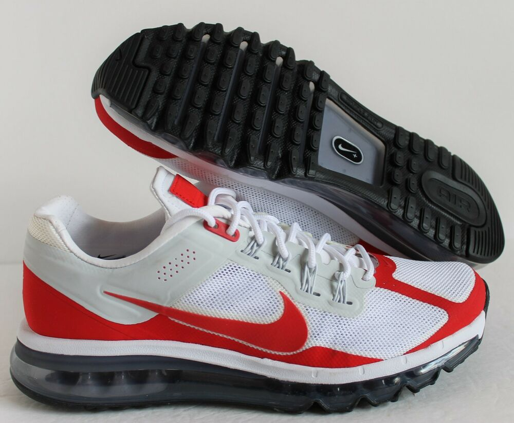 NIKE AIR MAX 2013 EXT LE blanc-UNIVERSITY rouge-Gris-noir SZ 9.5 [599256 160]