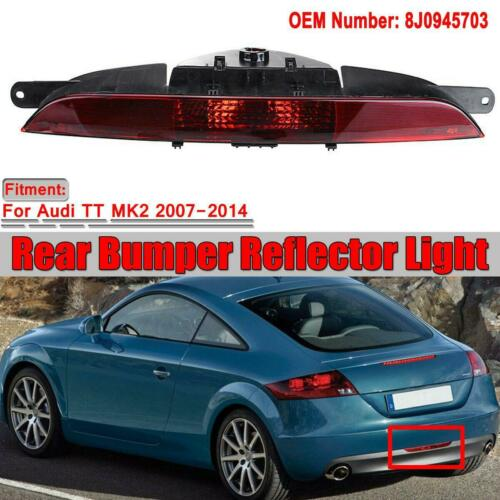 FOR AUDI TT 8J 2007-2014 MK2 REAR BUMPER CENTER FOG LIGHT FOG LAMP 8J0945703
