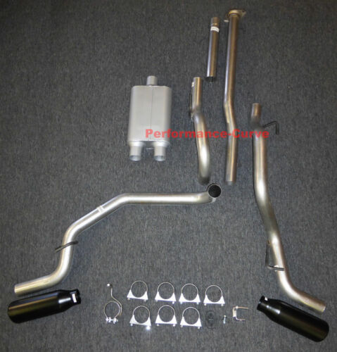 05-12 Toyota Tacoma Catback Dual Exhaust Side Exit Full Boar Two Chamber