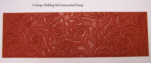 Deco-Nautilus-Swirl-Design-Molding-Mat-Texture-Rubber-Stamp-Paper-amp-Polymer-Clay