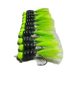 12 hand tied 1/16oz crappie jigs