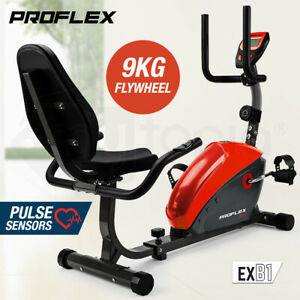 ProFlex-Magnetic-Recumbent-Exercise-Bike-Fitness-Cycle-Trainer-with-LCD-Display