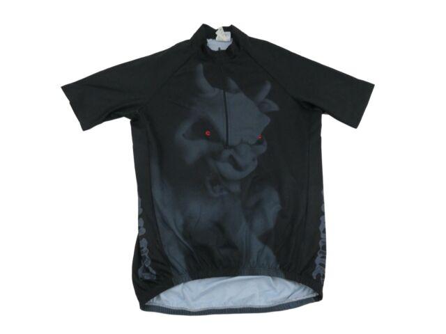 Cannondale Men's Devil Gargoyle Cycling Bike Jersey Medium Black Demon Vintage