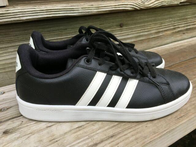 Size 9.5 - adidas Cloudfoam Advantage Black White