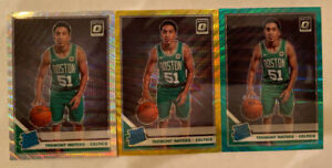 2019-20-Optic-Tremont-Waters-Silver-Gold-amp-Green-Prizm-Wave-RC-158-Celtics-Rare