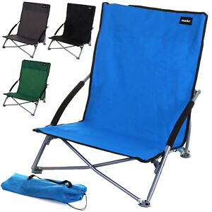 Image Is Loading Beach Chair Low Slung Folding Camping Festival Pool