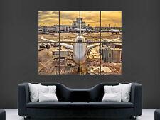 A380 avión aeronave a la puerta arte enorme cartel de imágenes de gran tamaño gigante