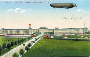"""Militär, Kaserne des 7. Kgl Inf. Regiment """"106"""" mit Zeppelin, Feldpost 1915 - Brachttal, Deutschland - Militär, Kaserne des 7. Kgl Inf. Regiment """"106"""" mit Zeppelin, Feldpost 1915 - Brachttal, Deutschland"""