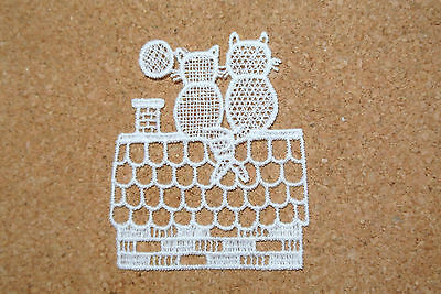 Animals - Cats - sew-on lace motif/applique/patch/craft/card making