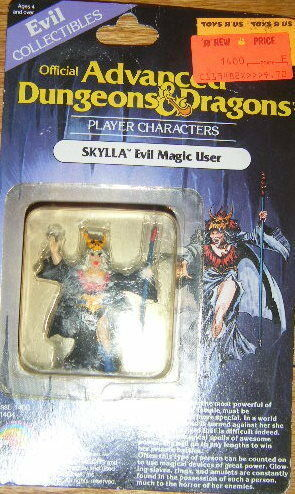 Adv. D&D Player characters Skylla intact on not intact Skylla card 22b5f0