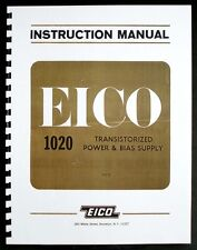 Eico Model 1020 Power And Bias Supply Instruction Manual