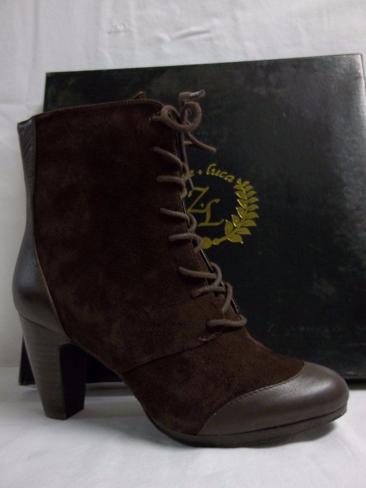 Zoe + Luca M Foxy Gamuza marrón oscuro al tobillo Botines Tacones nuevo Zapatos para mujer