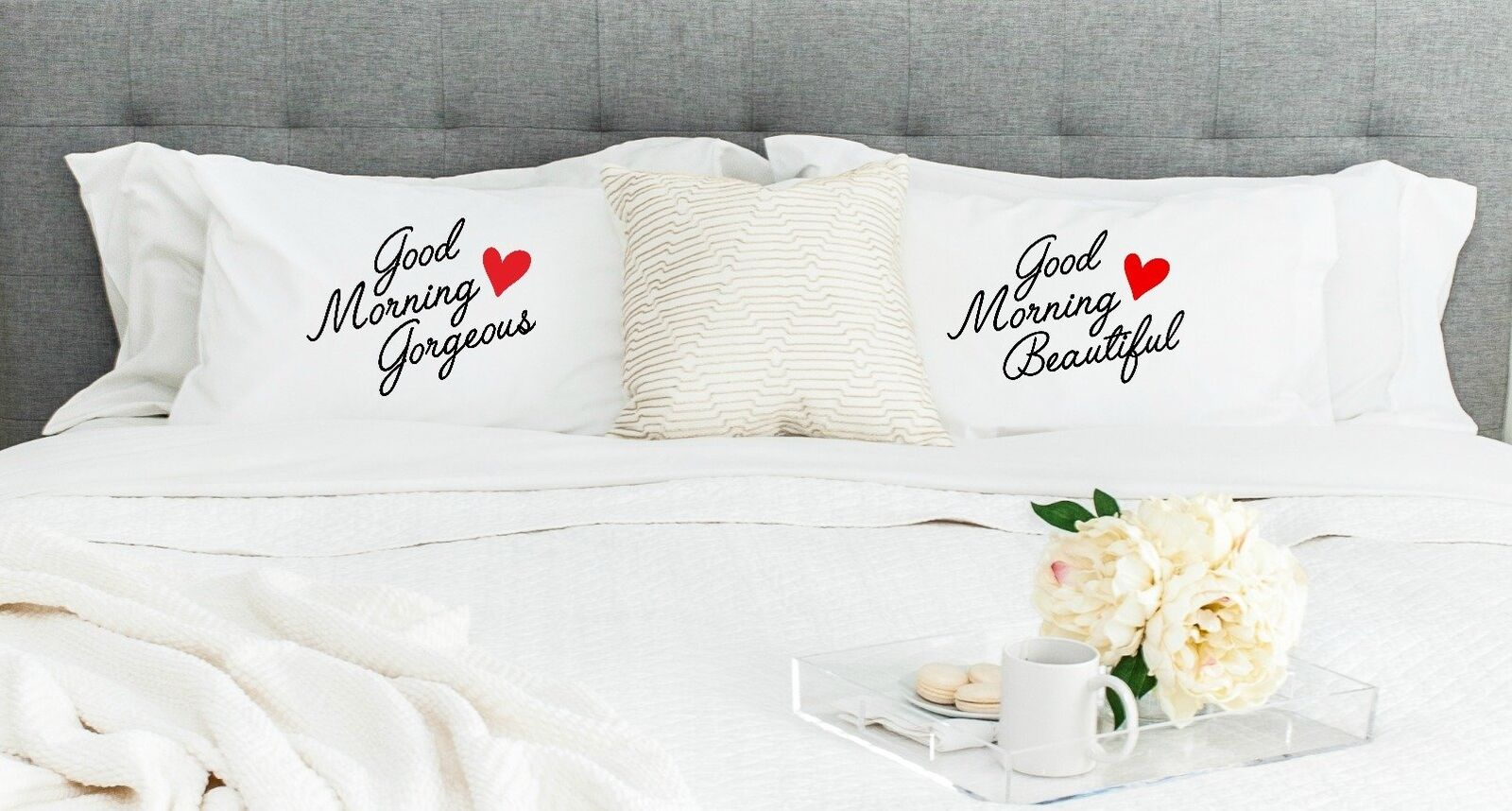 'Good Morning Gorgeous and Good Morning Beautiful' Pillowcases (Set of 2)